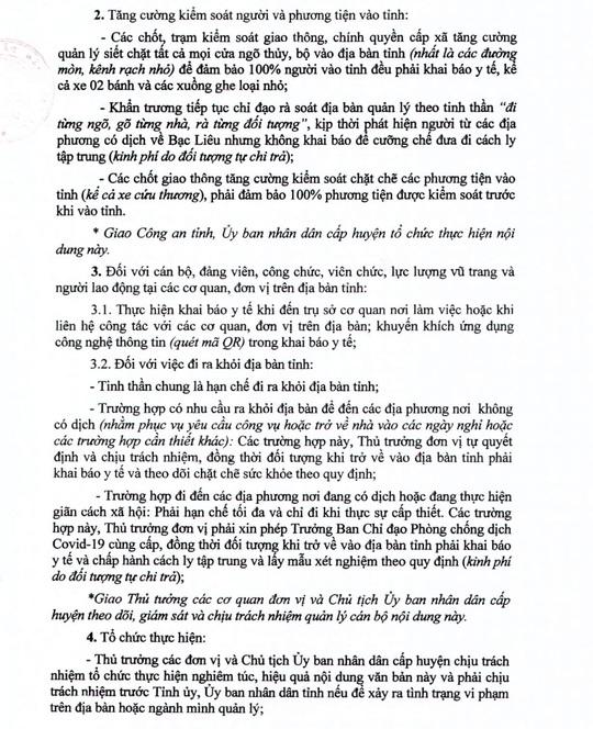 Diễn biến liên quan Covid-19 ở Tiền Giang, Đồng Tháp và Bạc Liêu - Ảnh 3.