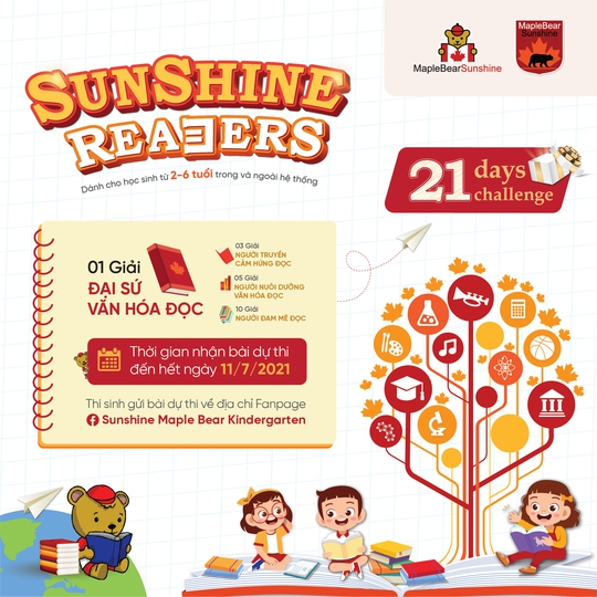 Sunshine Maple Bear xây dựng văn hóa đọc cho trẻ nhỏ thông qua dự án Sunshine Readers - Ảnh 2.
