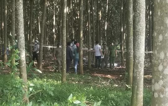 Hoảng hốt thấy 1 người nằm chết trong lô cao su ở TP Long Khánh, Đồng Nai - Ảnh 1.