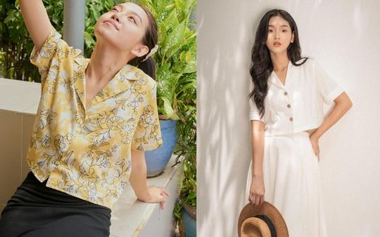 Kiểu áo sơ mi đang phủ sóng các shop thời trang Việt - Ảnh 1.