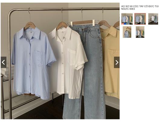 Kiểu áo sơ mi đang phủ sóng các shop thời trang Việt - Ảnh 10.