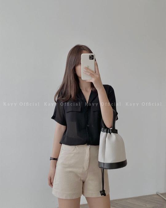 Kiểu áo sơ mi đang phủ sóng các shop thời trang Việt - Ảnh 11.