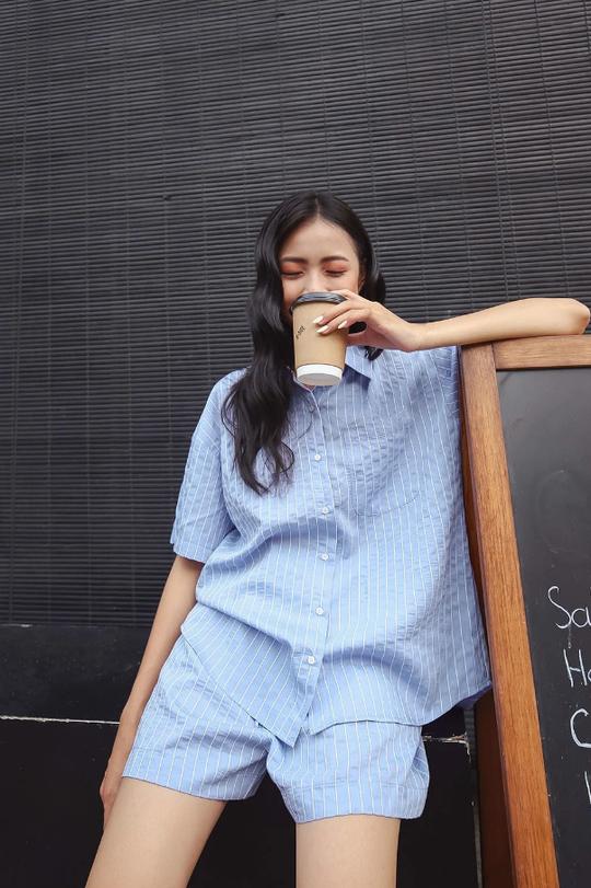 Kiểu áo sơ mi đang phủ sóng các shop thời trang Việt - Ảnh 6.