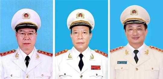 Ba Thượng tướng thôi chức Thứ trưởng Bộ Công an - Ảnh 1.
