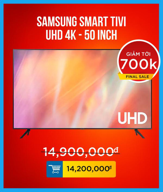 Sunshine Mall hòa nhịp cùng tuyển Việt Nam, đồng loạt giảm giá cực sốc Tivi Samsung - Ảnh 3.