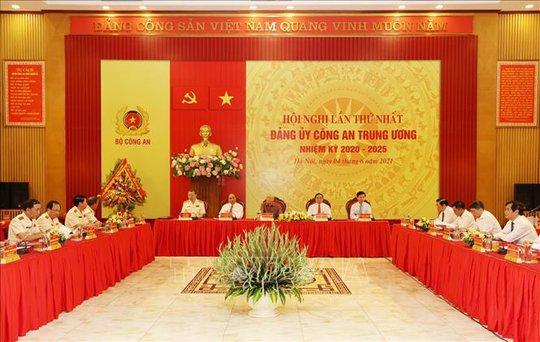 Chùm ảnh: Tổng Bí thư dự Lễ công bố Đảng ủy Công an Trung ương nhiệm kỳ mới - Ảnh 10.