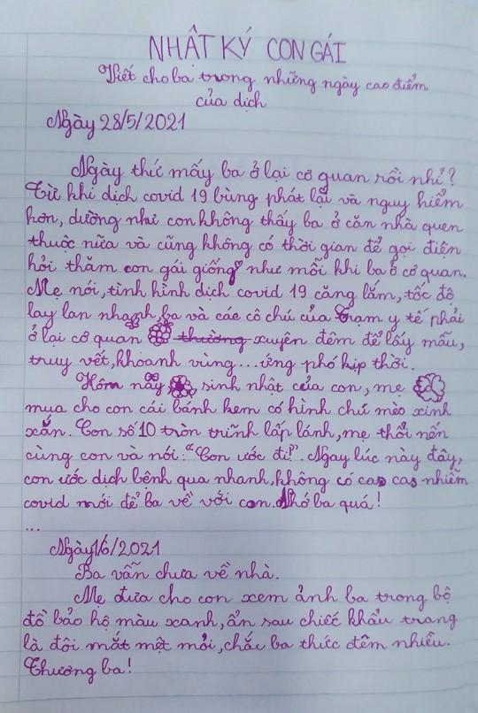 Xúc động nhật ký con gái viết cho ba chống dịch không thể về dự sinh nhật - Ảnh 2.