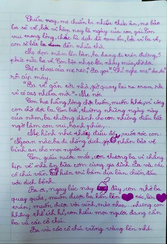 Xúc động nhật ký con gái viết cho ba chống dịch không thể về dự sinh nhật - Ảnh 3.