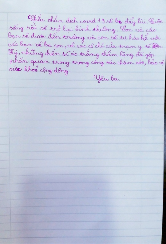 Xúc động nhật ký con gái viết cho ba chống dịch không thể về dự sinh nhật - Ảnh 4.