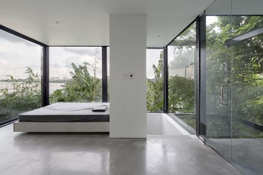 Ngôi nhà nhỏ trong suốt ở Hà Nội, hướng thẳng ra sông Hồng - Ảnh 6.