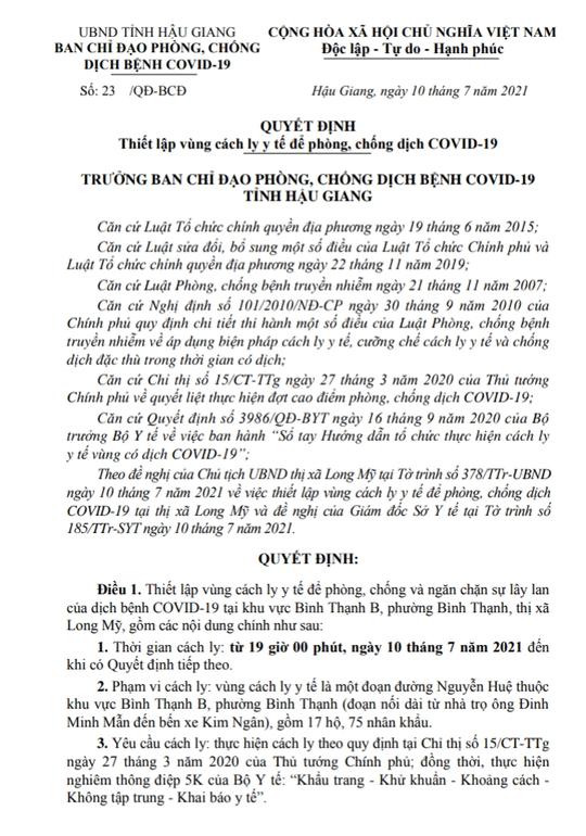 Dịch Covid-19 diễn biến phức tạp ở Cần Thơ, Hậu Giang và Đồng Tháp - Ảnh 3.