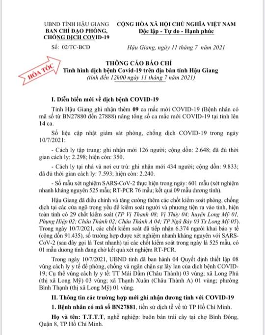 Đồng Tháp, Hậu Giang và An Giang xuất hiện thêm nhiều ca Covid-19 - Ảnh 3.