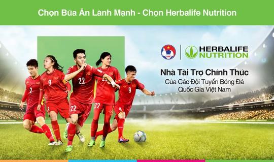 Herbalife Việt Nam là nhà tài trợ chính thức Đội tuyển bóng đá quốc gia Việt Nam - Ảnh 1.