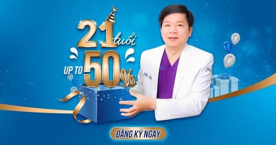 Bệnh viện JW ưu đãi 50% toàn bộ dịch vụ làm đẹp mừng sinh nhật lần thứ 21 - Ảnh 1.