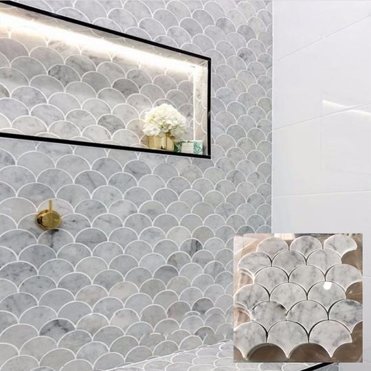 Ứng dụng của gạch vảy cá trong trang trí nội ngoại thất - Ảnh 1.