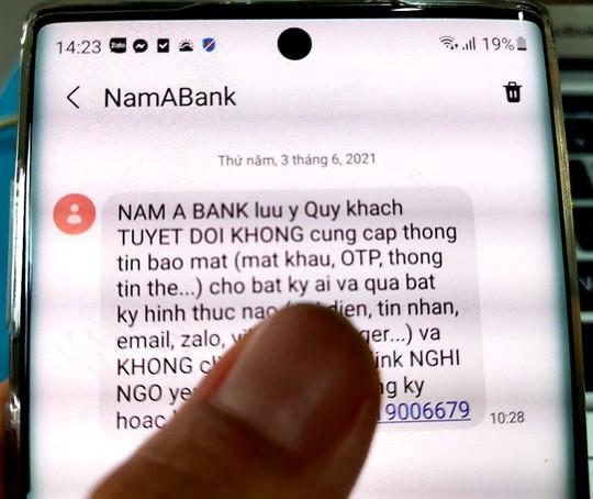 Dùng chữ ký, con dấu giả lừa tiền trong tài khoản ngân hàng - Ảnh 1.