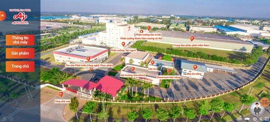 Tham quan nhà máy Ajinomoto trực tuyến nhờ công nghệ số hóa không gian - Ảnh 2.