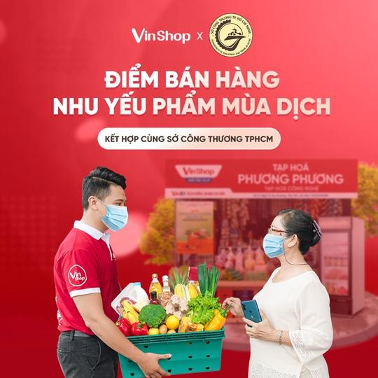 VinShop, VinID góp sức đưa nhu yếu phẩm đến tay người dân TP HCM - Ảnh 1.