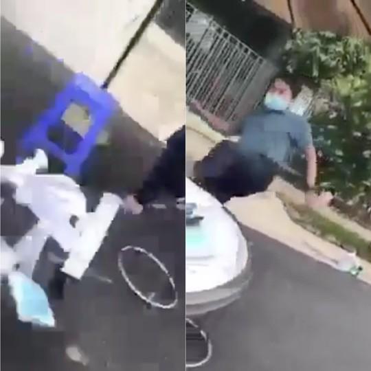 CLIP: Làm rõ vụ người đàn ông quát Biến! rồi đạp đổ bàn làm việc của nhân viên y tế - Ảnh 2.