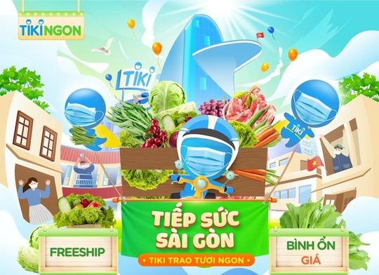 Tiki tiếp sức Sài Gòn: cung ứng nguồn thực phẩm giá bình ổn - Ảnh 1.