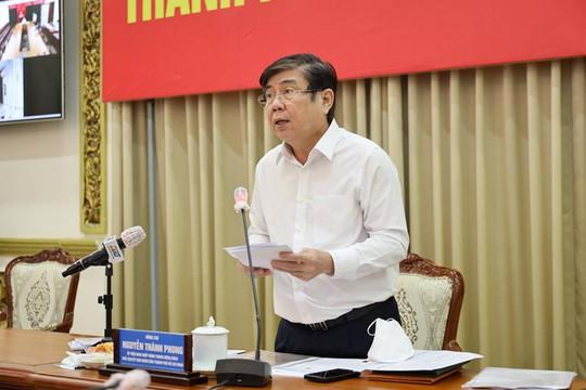 Chủ tịch UBND TP HCM báo cáo Thủ tướng về tình hình chống dịch Covid-19 - Ảnh 1.