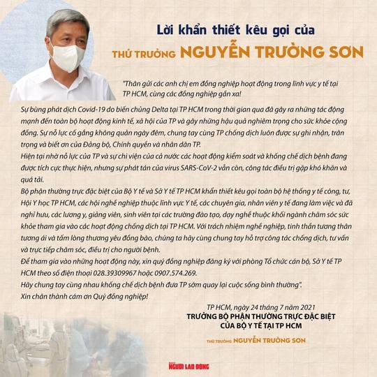Từ tâm thư của Thứ trưởng Nguyễn Trường Sơn: Hơn 1.300 người đã đăng ký - Ảnh 1.