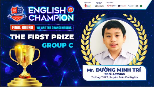 Nam sinh TPHCM giành ngôi quán quân English Champion 2021 - Ảnh 1.