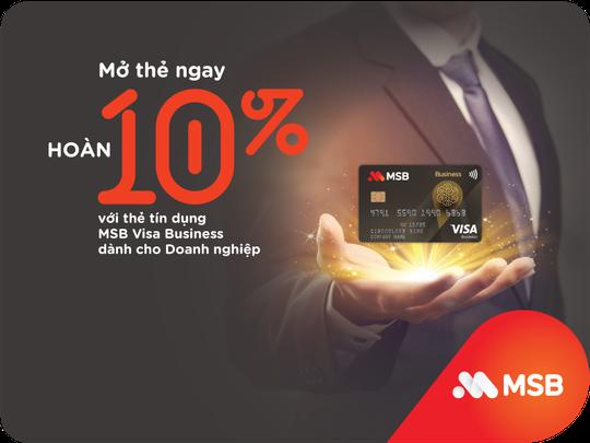 MSB ra mắt Thẻ tín dụng MSB Visa Business với nhiều ưu đãi hấp dẫn - Ảnh 1.