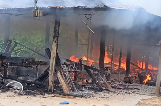 Cháy nhà, vợ chồng nữ giáo viên ở Quảng Nam tử vong - Ảnh 1.