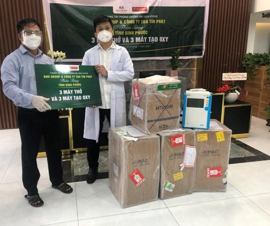 Tạo Tín Phát và Kavi Group hỗ trợ thiết bị cho Bệnh viện dã chiến TP Đồng Xoài - Ảnh 1.