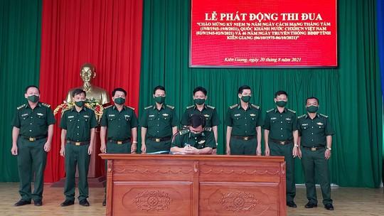 Bộ đội Biên phòng Kiên Giang phát động thi đua trong 46 ngày đêm - Ảnh 1.