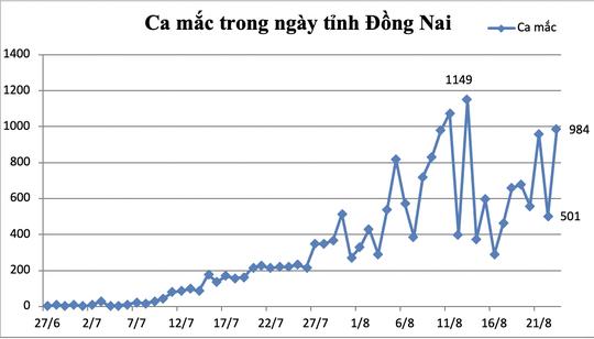Đồng Nai gần 1.000 ca mắc mới, TP Biên Hòa nhiều nhất - Ảnh 1.