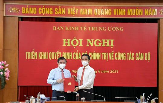 Ông Nguyễn Thành Phong chính thức làm Phó Ban Kinh tế Trung ương - Ảnh 1.