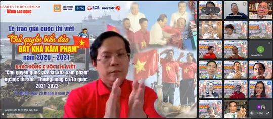 Báo Người Lao Động trao giải cuộc thi viết Chủ quyền biển đảo bất khả xâm phạm - Ảnh 1.