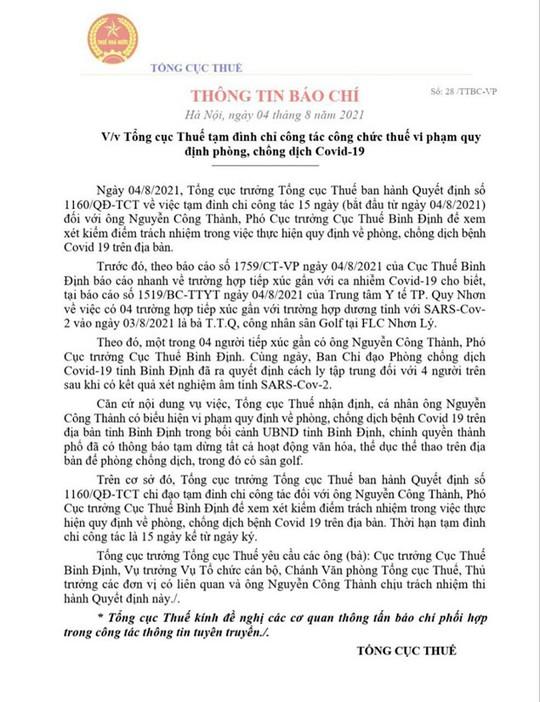 """Bí thư Tỉnh ủy Bình Định nói về việc giám đốc sở, cục phó chơi golf """"lậu"""" rồi thành F1 - Ảnh 1."""