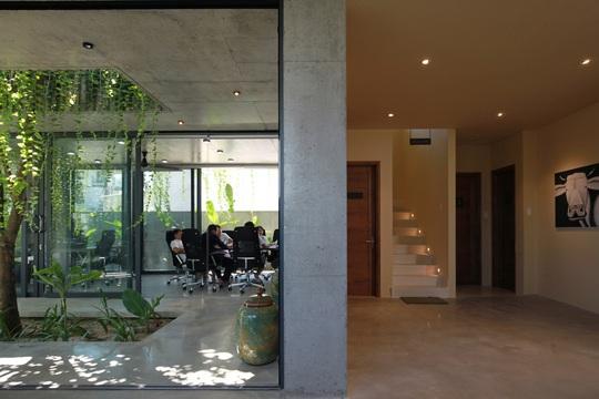 Ngôi nhà đa năng với mái tranh, cây xanh phủ kín ở Quảng Nam - Ảnh 4.