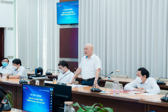 Chủ tịch HĐTV Nguyễn Mạnh Thắng phát biểu
