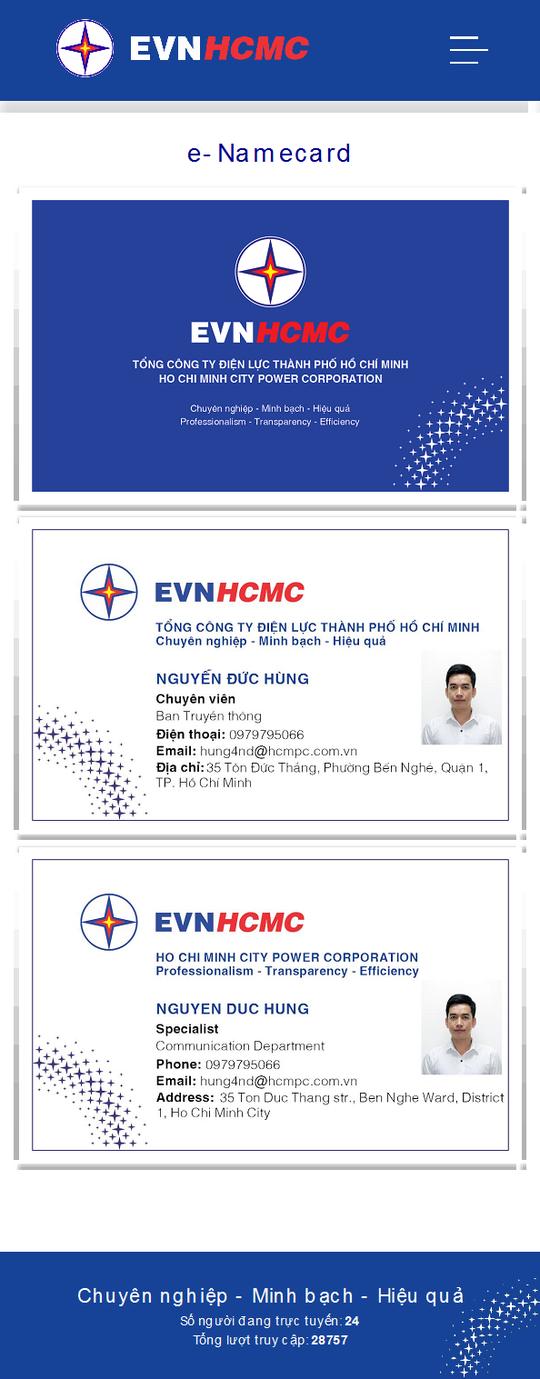 EVNHCMC số hóa hoạt động giao tiếp với danh thiếp điện tử - Ảnh 3.