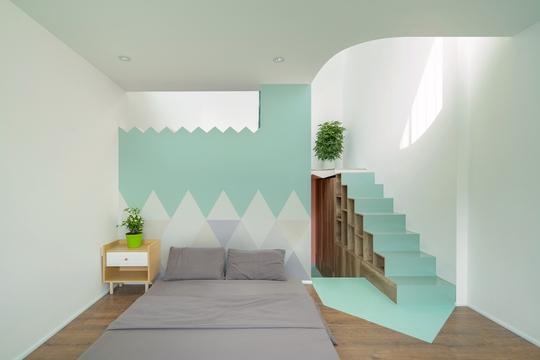 Ngôi nhà màu pastel trong hẻm nhỏ ở TP HCM - Ảnh 6.