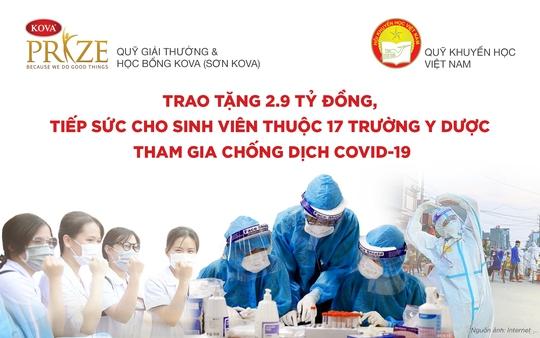 Quỹ giải thưởng KOVA và Quỹ Khuyến học Việt Nam trao tặng 2,9 tỉ đồng cho sinh viên Y dược chống dịch Covid-19 - Ảnh 1.