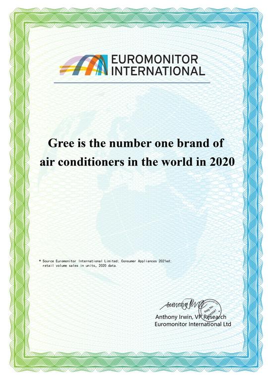 GREE 6 năm liền đạt chứng nhận thương hiệu điều hòa số 1 thế giới - Ảnh 1.