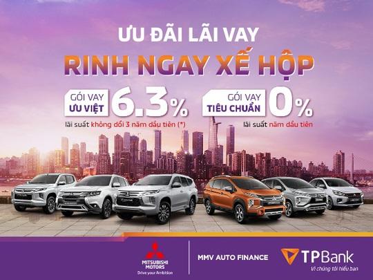 Mua xe Mitsubishi với lãi suất 0%/năm từ TPBank - Ảnh 1.