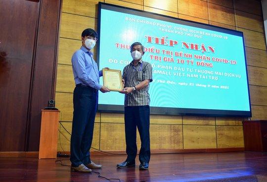 Gigamall Việt Nam tài trợ 10 tỉ đồng mua thuốc điều trị Covid-19 - Ảnh 1.