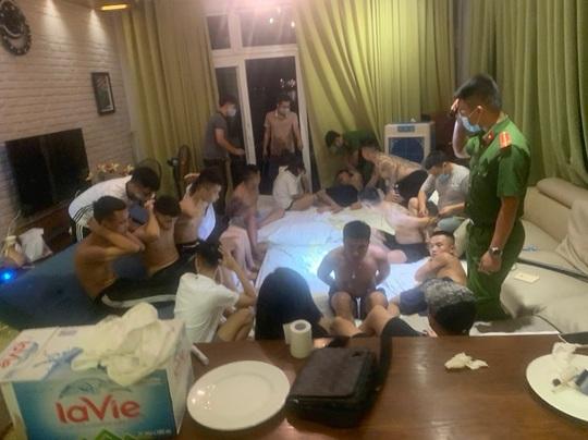 Nhóm nam, nữ thanh niên thuê biệt thự tổ chức tiệc ma túy - Ảnh 1.