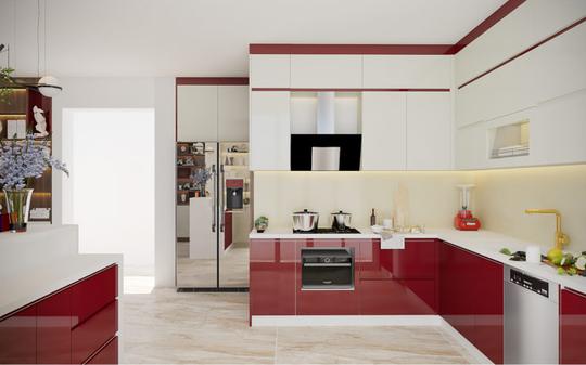 Những lưu ý khi chọn màu sắc cho tủ bếp - Ảnh 1.