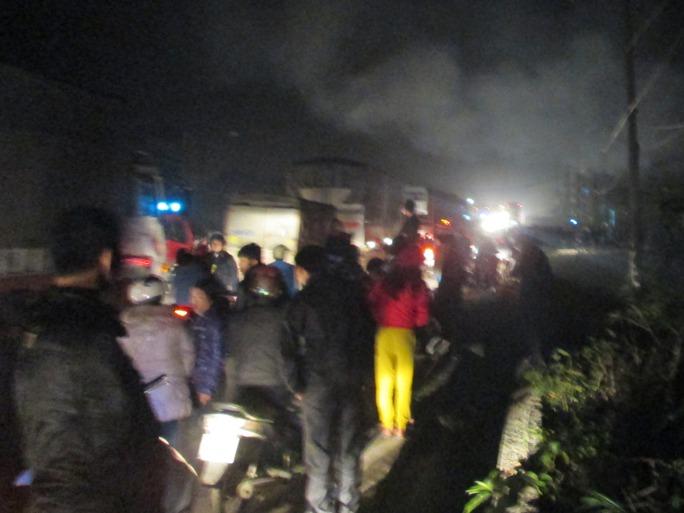 Vụ cháy cơ sở kinh doanh gas xảy ra đúng đêm Noel