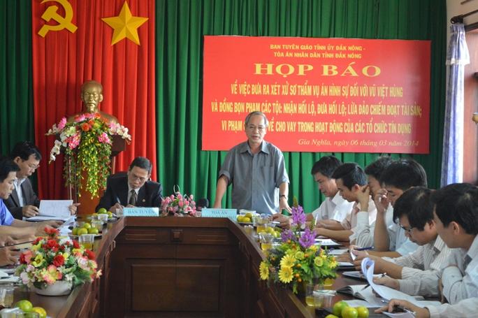 Ông Nguyễn Anh Loát, Phó chánh án TAND tỉnh Đắk Nông cho biết đã chuẩn bị kỹ lưỡng cho quá trình xử án