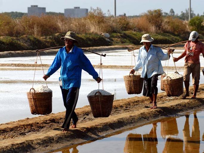 Hàm lượng muối trong nước biển ở Cần Giờ rất cao nên việc làm muối của diêm dân khá thuận lợi.