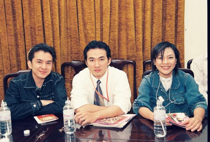 Từ trái sang phải: Đan Trường, Chi Bảo, Mỹ Tâm