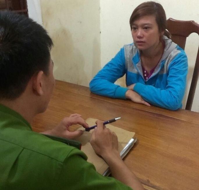 Lưu Thị Thanh Tuyền tại cơ quan công an